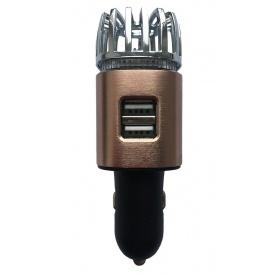 Ионизатор воздуха EcoFuture Car Air Purifier с зарядным устройством бронзовый (101)