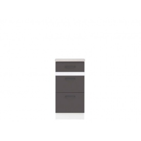 Нижний шкаф BRW Junona Line D 3 S/40/82 Серый вольфрам/Белый/Инканто