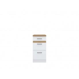 Нижний шкаф BRW Junona Line D 3 S/40/82 Белый/Дуб крафт золотой