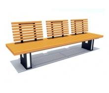 Скамейка парковая стиле LOFT (Street Bench - 47)
