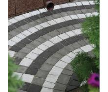 Тротуарная плитка Золотой Мандарин Креатив 60 мм на белом цементе белый