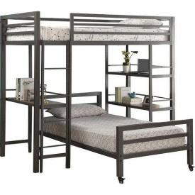 Двухьярусне ліжко в стилі LOFT (Bed-015)