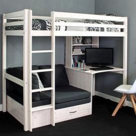 Двухьярусная кровать в стиле LOFT (Bed-030)