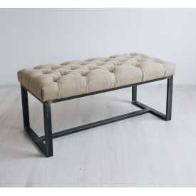 Банкетка-пуф для передпокою в стилі LOFT (Sofa-56)