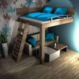 Двухьярусная кровать в стиле LOFT (Bed-033)