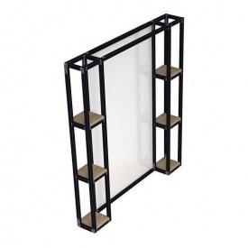 Настенный подсвечник с зеркалом в стиле LOFT (Lamp-53)