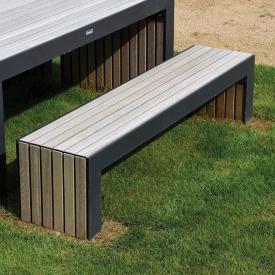 Скамейка садовая в стиле LOFT (Street Bench - 32)