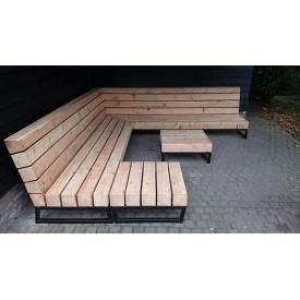 Садовая лаунж лавочка в стиле LOFT (Street Bench - 42)