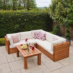 Садовая лаунж лавочка в стиле LOFT (Street Bench - 44)