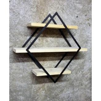 Настінна полиця в стилі LOFT (Wall Shelf-18)