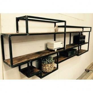 Навісна полиця в стилі LOFT (Wall Shelf-32)