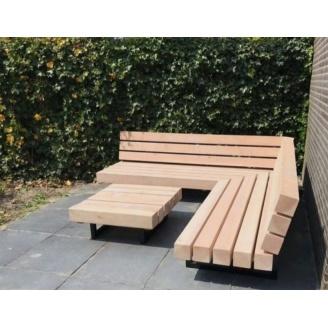 Садовая лаунж лавочка в стиле LOFT (Street Bench - 36)