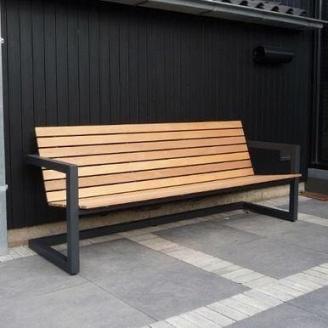 Скамейка парковая в стиле LOFT (Street Bench - 09)