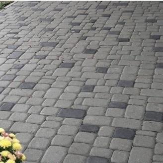 Тротуарная плитка Золотой Мандарин Старый город 120х60 мм серый