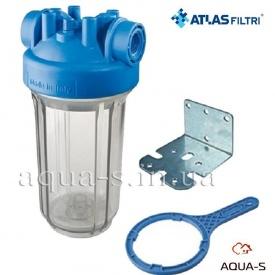 """Фильтр-колба Atlas Filtri DP BIG TS Dn 1"""" 10"""" для картриджей 4,5"""" увеличенного ресурса"""