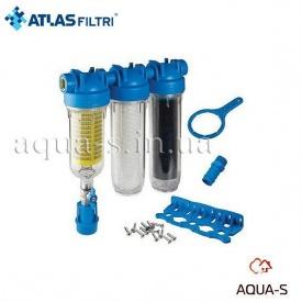 """Фільтр самопромивний Atlas Filtri Hydra RAINMASTER TRIO триступеневий Dn 1"""" картридж RAH-LA-FA 90 мкм"""