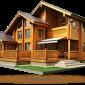 Дерев'яний будинок з оциліндрованої колоди