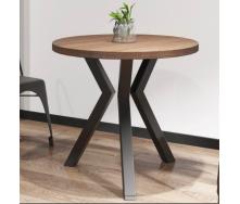 Круглый стол Металл-Дизайн Свен-3 800х750 мм в стиле Лофт