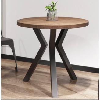 Круглий стіл Метал-Дизайн Свен-3 800х750 мм в стилі Лофт