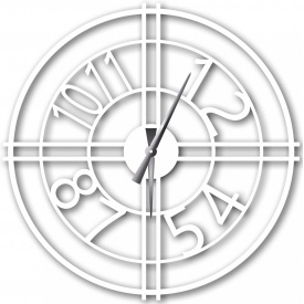 Часы настенные WallArt Bersa белые (WA_Ber_0001)