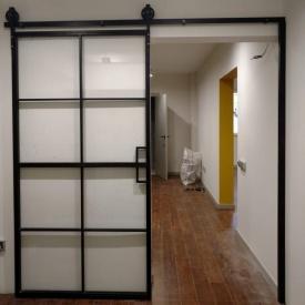Стальные двери в стиле LOFT из металлического профиля 30-50мм