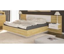 Кровать Мебель-Сервис Фиеста 265х208х91 см дуб золотой