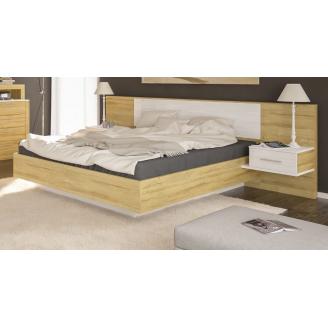 Ліжко Меблі-Сервіс Фієста 265х208х91 см дуб золотий