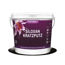 Штукатурка силоксановая FEROMAL SILOXAN KRATZPUTZ декоративная Шуба База АВ 25 кг