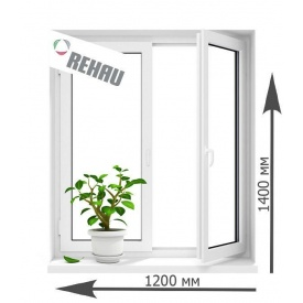 Окно металлопластиковое Rehau 60 поворотно-откидное 1200х1400 мм
