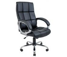 Офісне крісло Richman Арізона 1310-1230х670х610 мм хром М-1 чорне