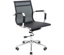 Офісне крісло Richman Кельн Хром LB 1050-1130х600х530 мм сітка Чорна