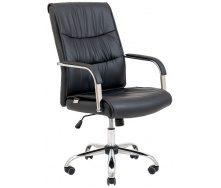 Офісне крісло Richman Торонто Хром 1140-1220х580х560 мм М1 чорний кожзам