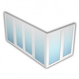 Балкон Rehau 70 1500х4200 мм з енергозбереженням