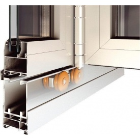 Розсувні алюмінієві двері Гармошка Alumil M9800