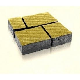 Брусчатка Західтрансбуд Римский камень 6 см 160х95х85 мм горчичная
