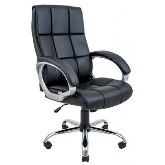 Офисное кресло Richman Аризона 1310-1230х670х610 мм хром М-1 черное