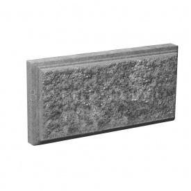 Блок Західтрансбуд Колотый камень облицовочный 390х190х45 мм серый