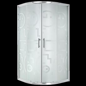 Душова кабіна Invena MARBELLA профілі хром скло гео 90x90 см