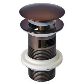 Донный клапан для раковины Welle тёмная бронза