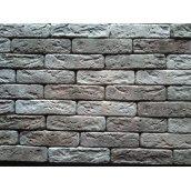 Гипсовая плитка Римский кирпичик микс-кричневый 200х50мм
