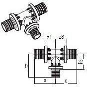 Трійник RAUTITAN PX 40-32-32