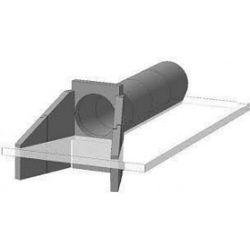 Откосная стенка для круглых труб СТ-6 л/п (Блок №40)