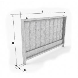 Забор бетонный П6ВК 2900х3980 мм