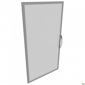 Дверца 3-х секционная М23 R АртМобил 410x18x1150 мм стекло/кромка алюм