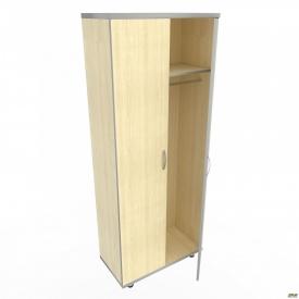 Шкаф М 11 АртМобил 820х425х2060 мм клен/кромка серый металлик