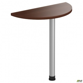 Стол приставной МГ-302 (720хR360х750мм) орех темный