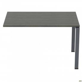 Стол приставной с укороченными перемычками SIG-106 1587x800x750 мм Черный графит 60x30 мм Морское д