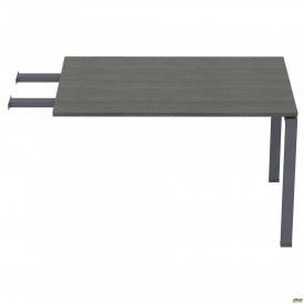 Стол приставной с удлиненными перемычками SIG-107 (1387х800х750мм) Черный графит 60х30мм Морское де