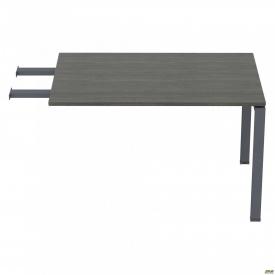 Стол приставной с удлиненными перемычками SIG-107 (1587х800х750мм) Черный графит 60х30мм Морское де