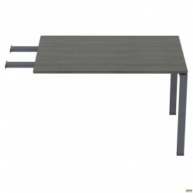 Стол приставной с удлиненными перемычками SIG-107 (1187х800х750мм) Черный графит 60х30мм Морское де